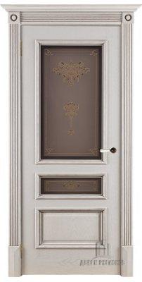 Межкомнатная дверь ВЕНА нефрит (тон 2) ПО стекло кристалайз
