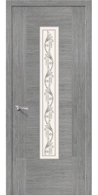 Межкомнатная дверь РОНДО серый дуб ПО худ.