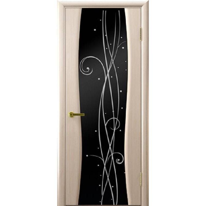 Межкомнатная дверь ДИАМАНТ бел. дуб ПО
