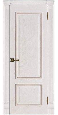 Межкомнатная дверь ГРАНД-1 patina bianko ПГ