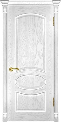 Межкомнатная дверь ГРАЦИЯ дуб белая эмаль ПГ