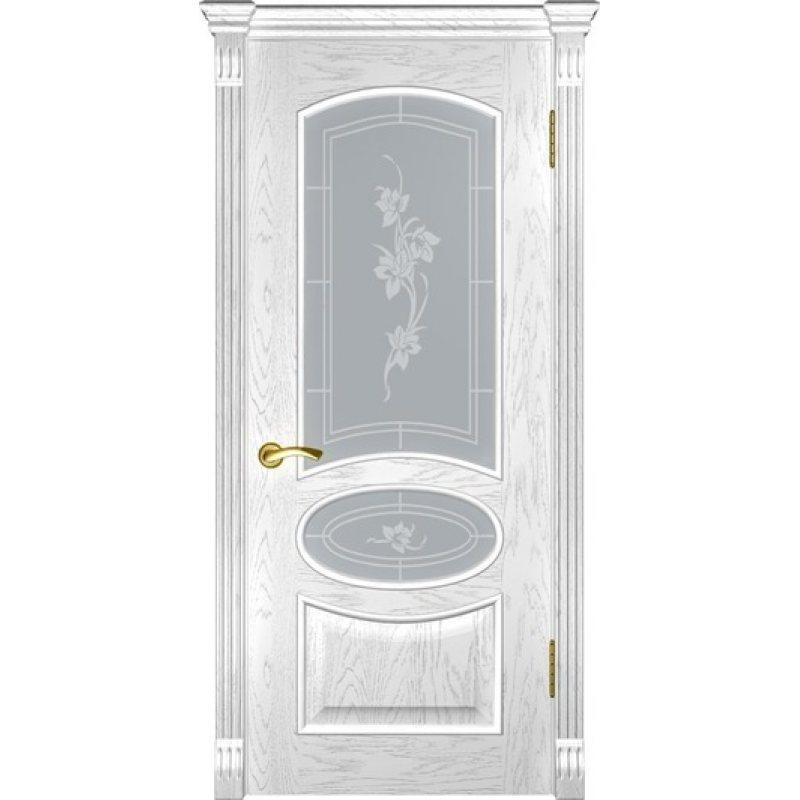 Межкомнатная дверь ГРАЦИЯ дуб белая эмаль ПО