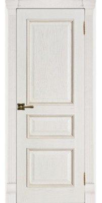 Межкомнатная дверь ГРАНД-2 patina bianko ПГ