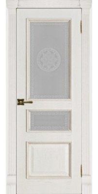Межкомнатная дверь ГРАНД-2 patina bianko ПО Версаче