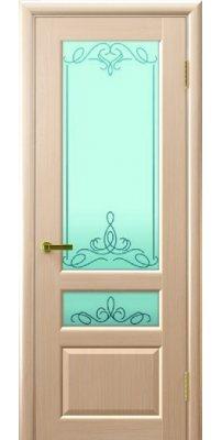 Межкомнатная дверь ВАЛЕНТИЯ 2 беленый дуб ПО