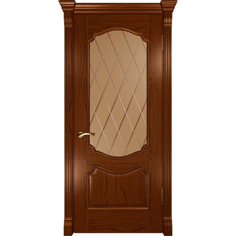 Межкомнатная дверь ВЕНЕЦИЯ дуб сандал ПО