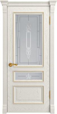 Межкомнатная дверь ФЕМИДА-2 дуб RAL 9010 ПО