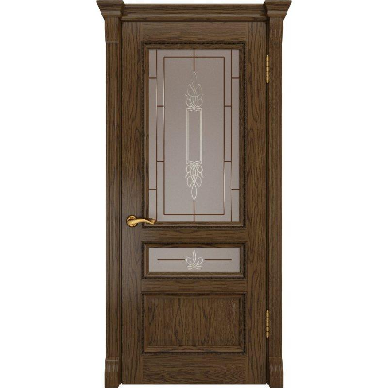 Межкомнатная дверь ФЕМИДА-2 светлый мореный дуб ПО