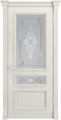 Межкомнатная дверь ГЕРА-2 дуб RAL 9010 ПО
