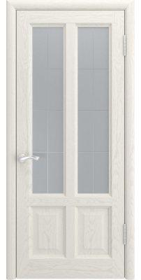 Межкомнатная дверь ТИТАН-3 дуб RAL 9010 ПО
