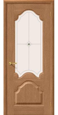 Межкомнатная дверь АФИНА дуб ПО худ.