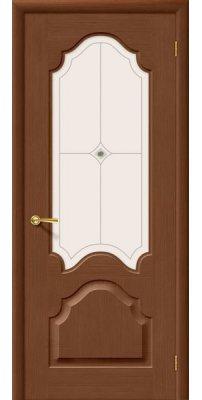 Межкомнатная дверь АФИНА орех ПО худ.