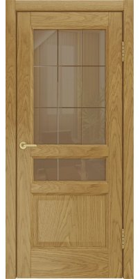 Межкомнатная дверь Атлантис-2 дуб натуральный ПО