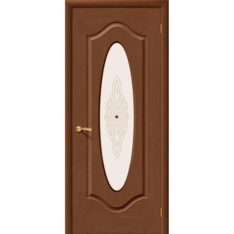 Межкомнатная дверь АУРА орех ПО худ.