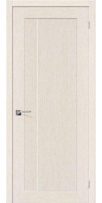 Межкомнатная дверь ЕВРО-1 беленый дуб ПГ