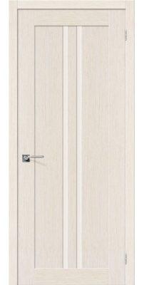 Межкомнатная дверь ЕВРО-14 беленый дуб ПО