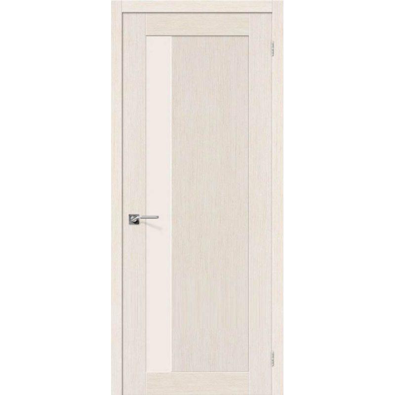 Межкомнатная дверь ЕВРО-2 беленый дуб ПО