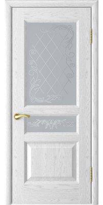 Межкомнатная дверь АТЛАНТ-2 ясень белая эмаль ПО