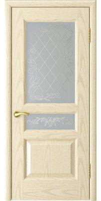 Межкомнатная дверь АТЛАНТ-2 ясень слоновая кость ПО