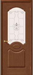 Межкомнатная дверь СЕЛЕНА орех ПО худ.