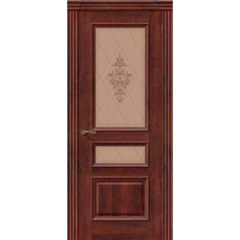 Межкомнатная дверь ВЕНА красное дерево ПО худ.