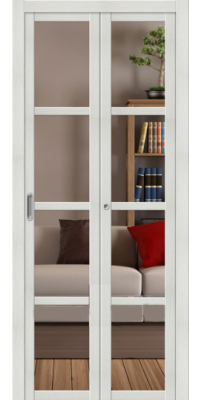 Складная дверь ТВИГГИ V4 Crystalline, bianco veralinga