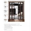 Межкомнатная складная дверь ПОРТА 21 grey veralinga