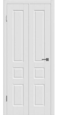Складная дверь Честер белая эмаль