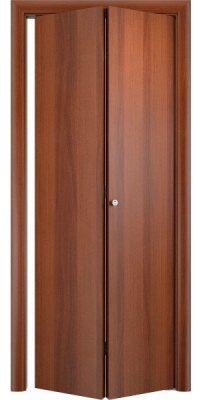 Складная дверь Гладкая ДПГ итальянский орех