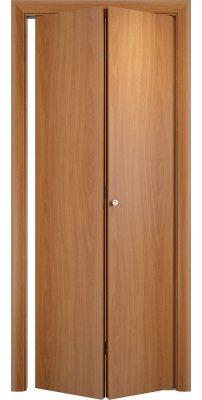 Складная дверь Гладкая ДПГ миланский орех