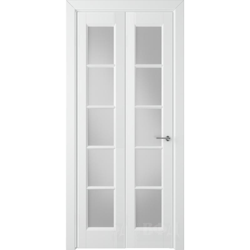 Складная дверь ГЛАНТА белая эмаль ПO