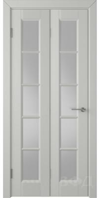 Складная дверь ГЛАНТА светло-серая эмаль ПO