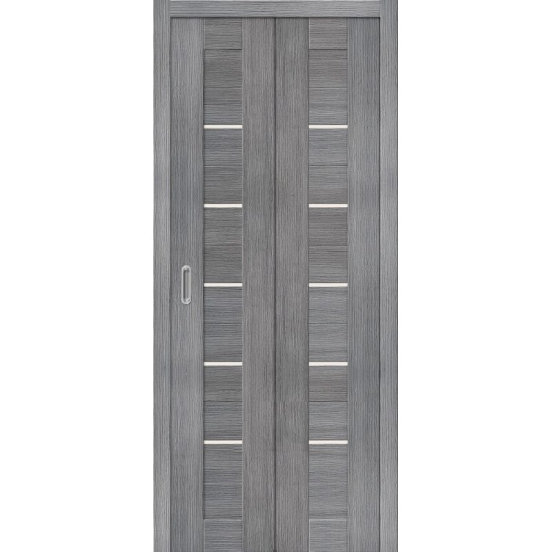 Межкомнатная складная дверь ПОРТА 22 grey veralinga