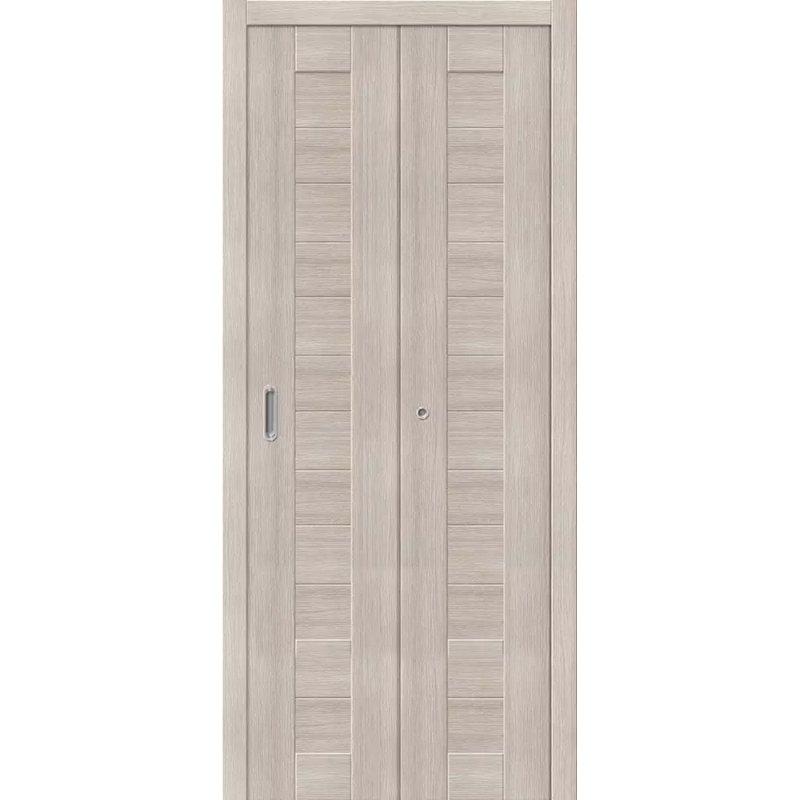 Межкомнатная складная дверь ПОРТА 21 cappuccino veralinga