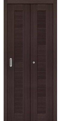 Складная дверь ПОРТА 21 wenge veralinga