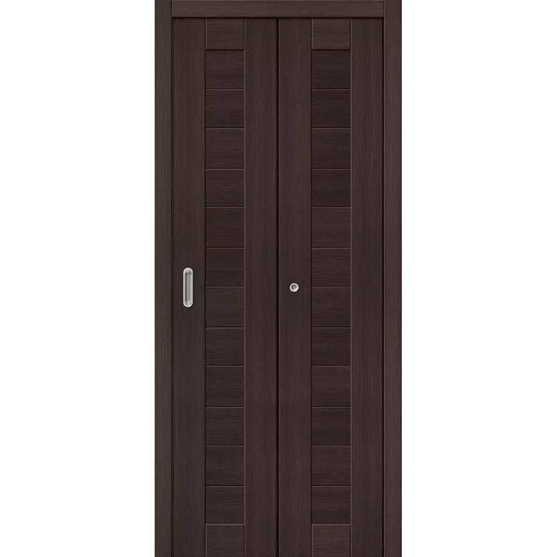 Межкомнатная складная дверь ПОРТА 21 wenge veralinga