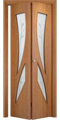 Складная дверь С-02 миланский орех ПО