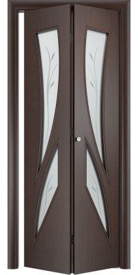 Складная дверь С-02 венге ПО