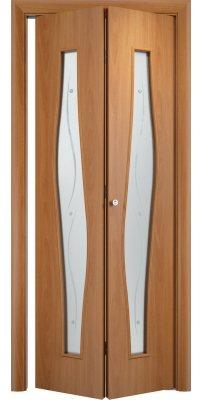 Складная дверь С-10 миланский орех ПО