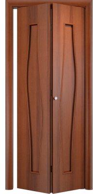 Складная дверь С-10 итальянский орех ПГ