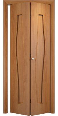 Складная дверь С-10 миланский орех ПГ