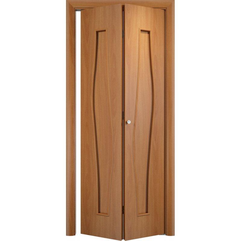 Межкомнатная складная дверь С-10 миланский орех ПГ