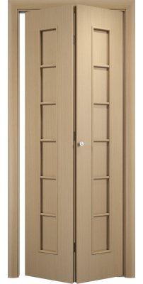 Складная дверь С-12 беленый дуб айс ПГ