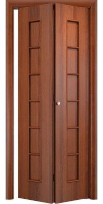 Складная дверь С-12 итальянский орех ПГ