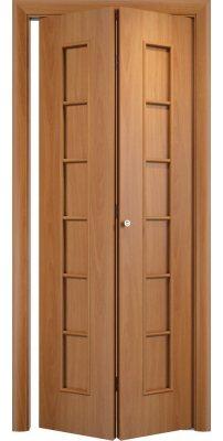 Складная дверь С-12 миланский орех ПГ