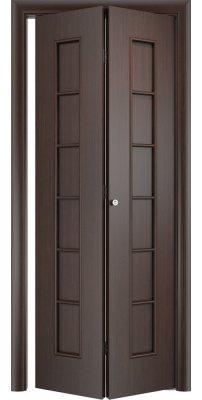 Складная дверь С-12 венге ПГ