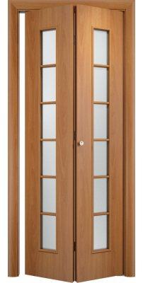 Складная дверь С-12 миланский орех ПО