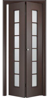 Складная дверь С-12 венге ПО