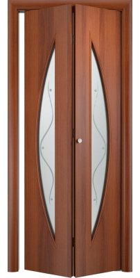 Складная дверь С-06 итальянский орех ПО