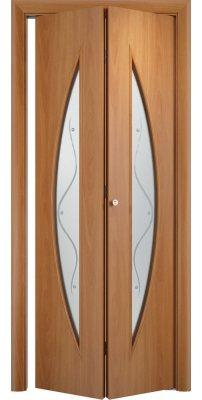 Складная дверь С-06 миланский орех ПО